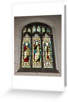 Window #1 - St Olave's Church - York. by Trevor Kersley