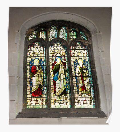 Window #1 - St Olave's Church - York. Poster