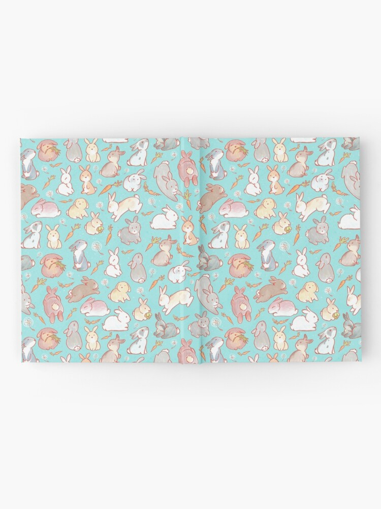 Alternate view of Cute bunny pattern blue Hardcover Journal