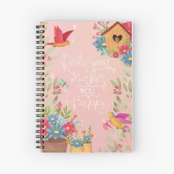 Read What Makes You Happy Spiral Notebook