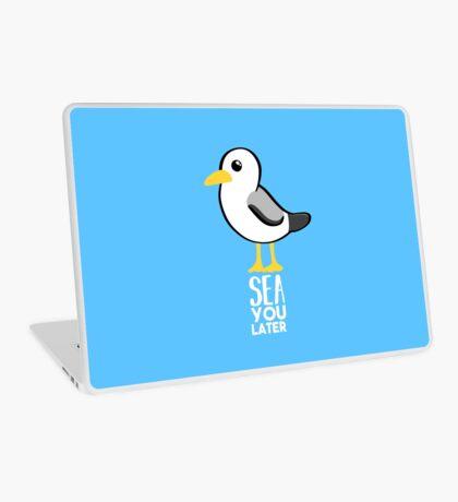 Seagull - Sea You Later - Funny Pun T Shirt Laptop Skin