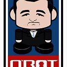 Ted Cruz Politico'bot Toy Robot 2.0 by Carbon-Fibre Media