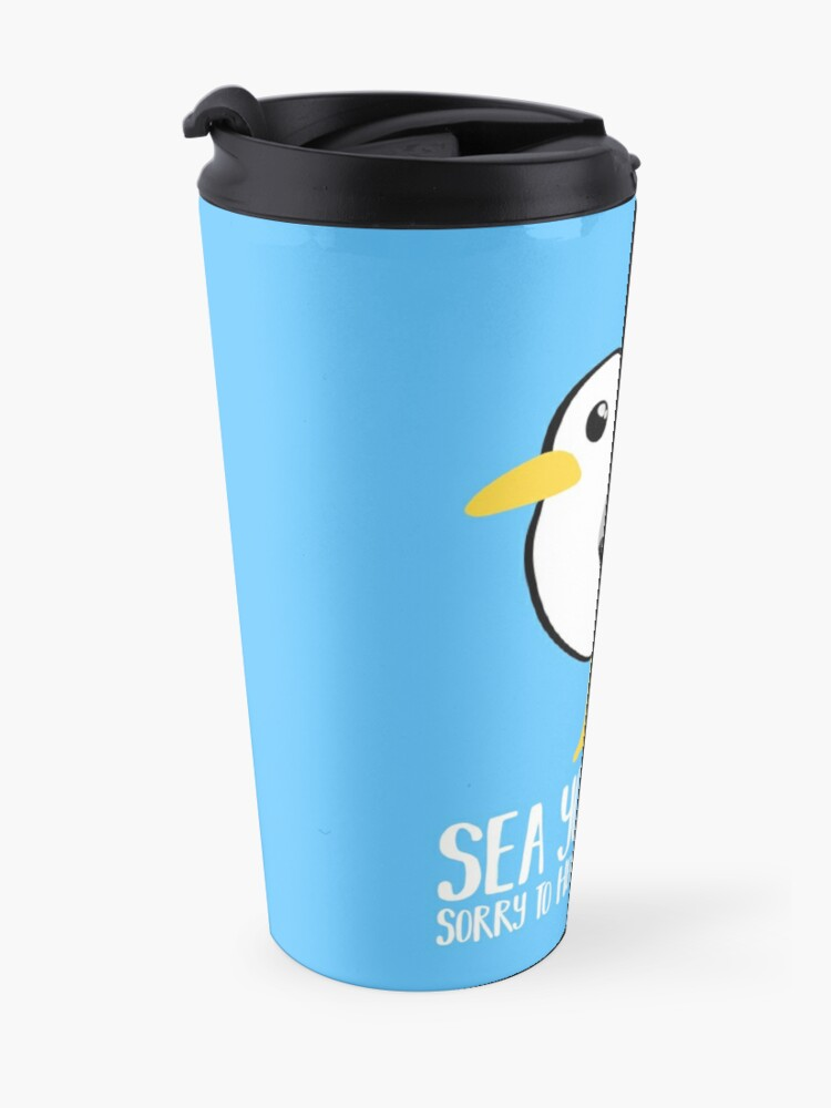 Alternate view of Seagull - Leaving Card - New Job - Sea You Later - Moving - Brighton Travel Mug
