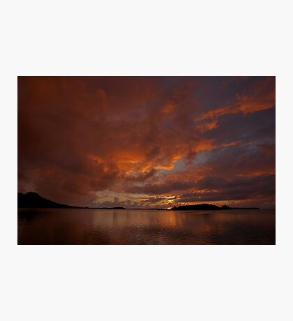 Sunrise in Bora Bora Photographic Print