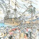 Neptune, Port of Genoa by Luca Massone  disegni