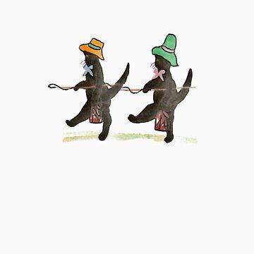 Jolly Fishermen Cat T-Shirt by simpsonvisuals