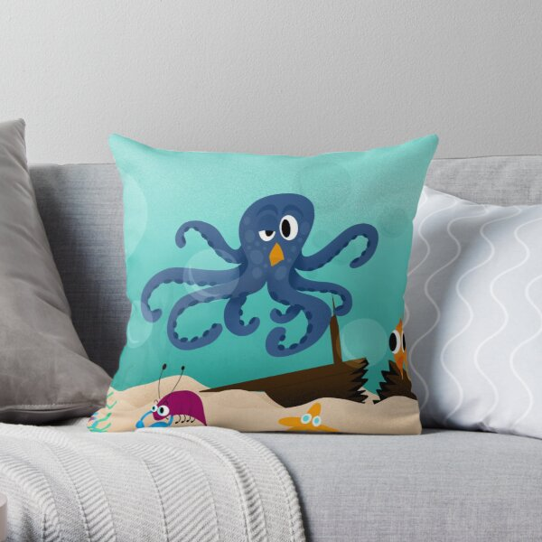Deep ocean Throw Pillow