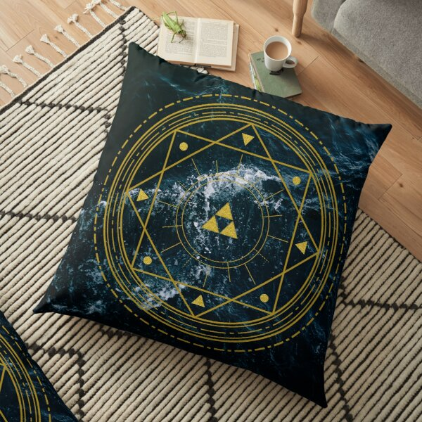 Triforce Geometric Floor Pillow