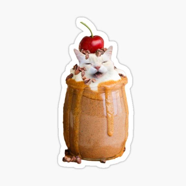 Melting Ice cream Cat Sticker