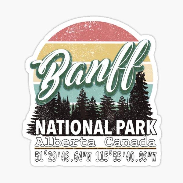 Banff Natural Park Alberta With GPS Design Sticker