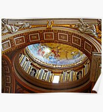 Interior Dome, St. Peters Basilica, The Vatican Poster