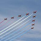 Red Arrows by Peter Barrett