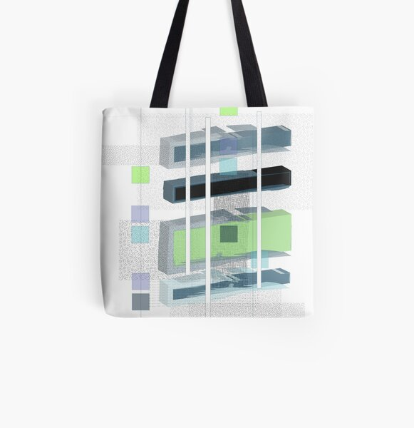 floating rectangles All Over Print Tote Bag