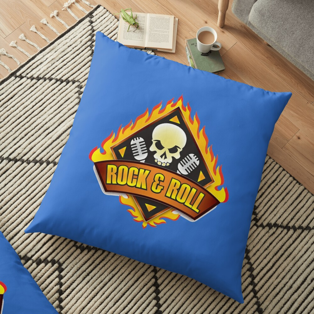Rock & Roll Floor Pillow