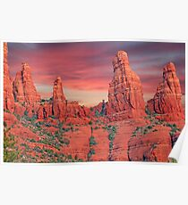 Madonna & Child with Two Nuns Red Rocks in Sedona Poster