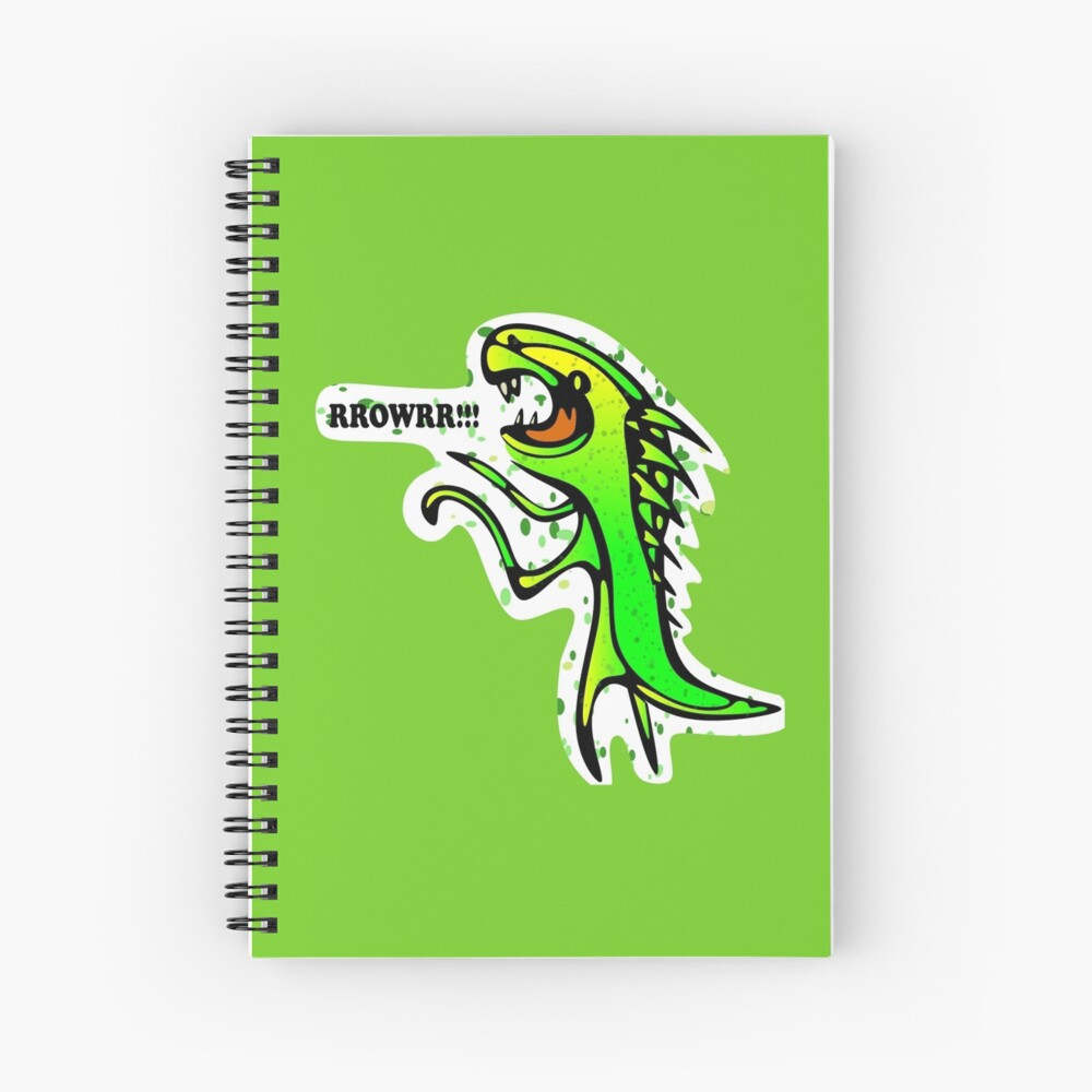 Dinosaurs say: RRROWRRR! Spiral Notebook