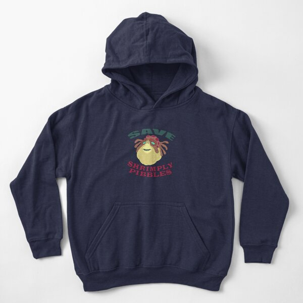 Save Shrimply Pibbles Kids Pullover Hoodie