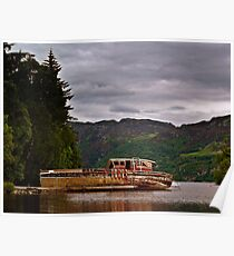 Boat Wreck On  Loch Ness, Scotland. Poster