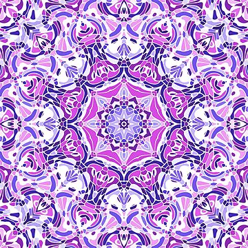 Purple Pink and White Mandala by kellydietrich