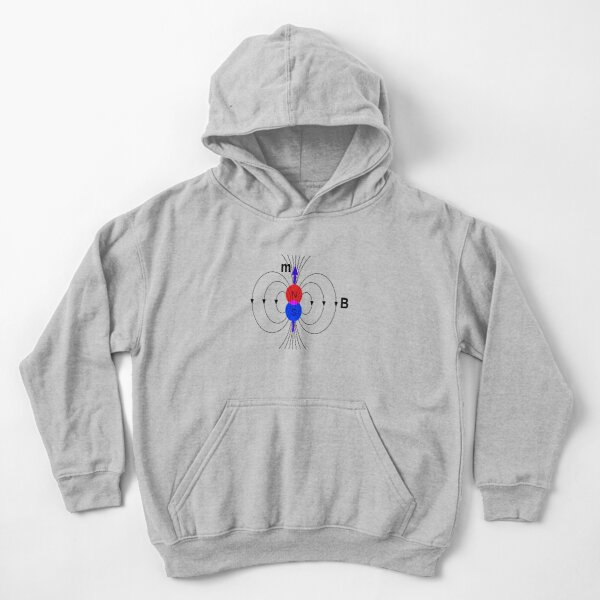 A #magnetic #dipole is the limit of either a closed loop of #electric #current or a pair of poles as the dimensions of the source are reduced to zero while keeping the magnetic moment constant Kids Pullover Hoodie