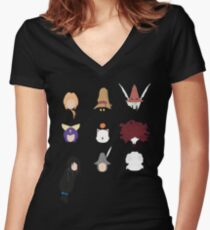 FFIX Party Faces Women's Fitted V-Neck T-Shirt