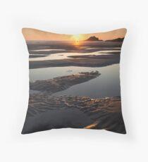 Crantock Beach Throw Pillow