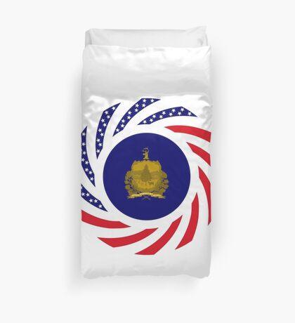 Vermont Murican Patriot Flag Series Duvet Cover