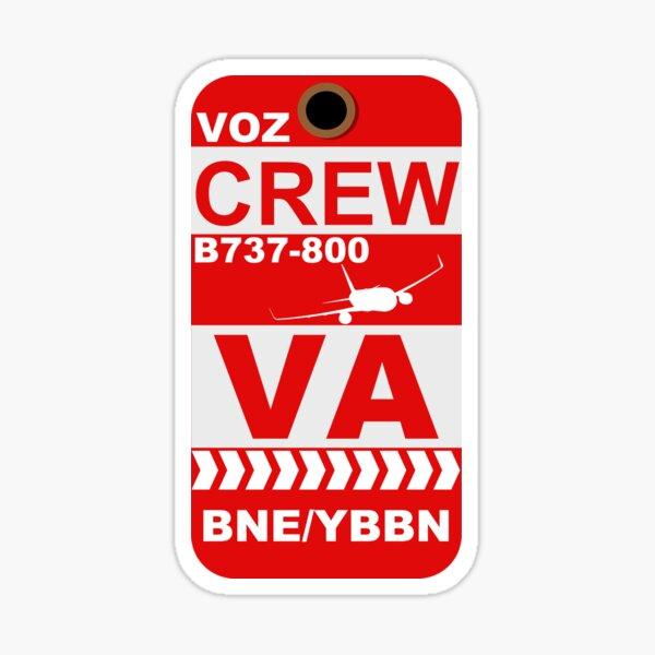 VA B737-800 Crew BNE Sticker