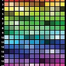 Web Palette Chart for Darks by anne m bray