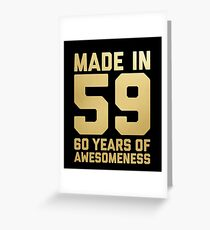 60th Birthday Gift Adult Age 60 Year Old Men Women Greeting Card