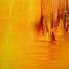 Orange Acrylic on Canvas by Claire Bull
