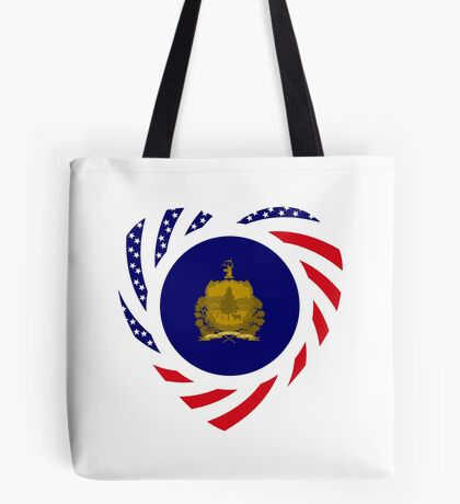 Vermont Murican Patriot Flag Series Tote Bag