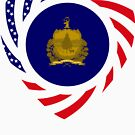 Vermont Murican Patriot Flag Series 2.0 by Carbon-Fibre Media