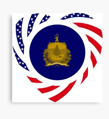 Vermont Murican Patriot Flag Series Canvas Print