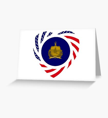 Vermont Murican Patriot Flag Series Greeting Card