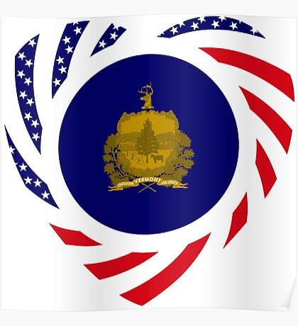 Vermont Murican Patriot Flag Series Poster