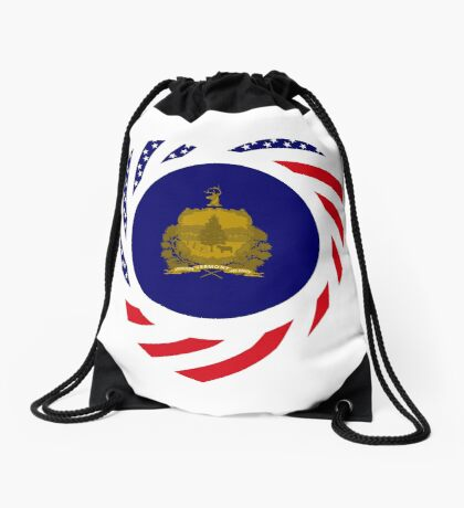 Vermont Murican Patriot Flag Series Drawstring Bag