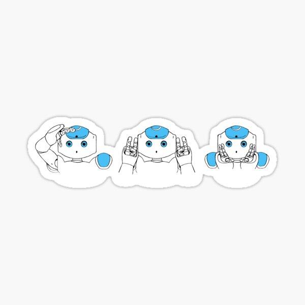 Robots See Hear Speak no Evil Sticker