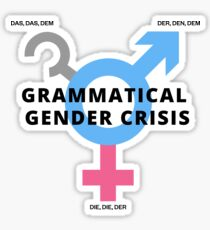 Pegatina Grammatical Gender Issues