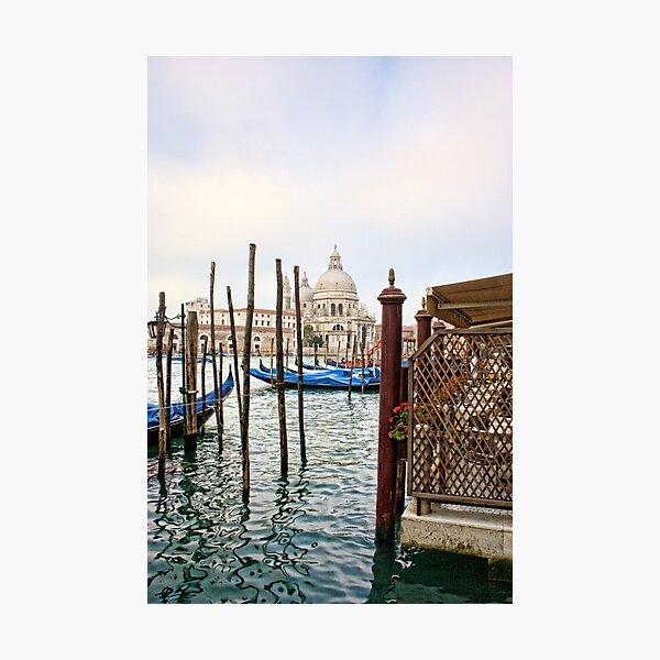 The Basilica di Santa Maria della Salute from Harry''s Bar Photographic Print