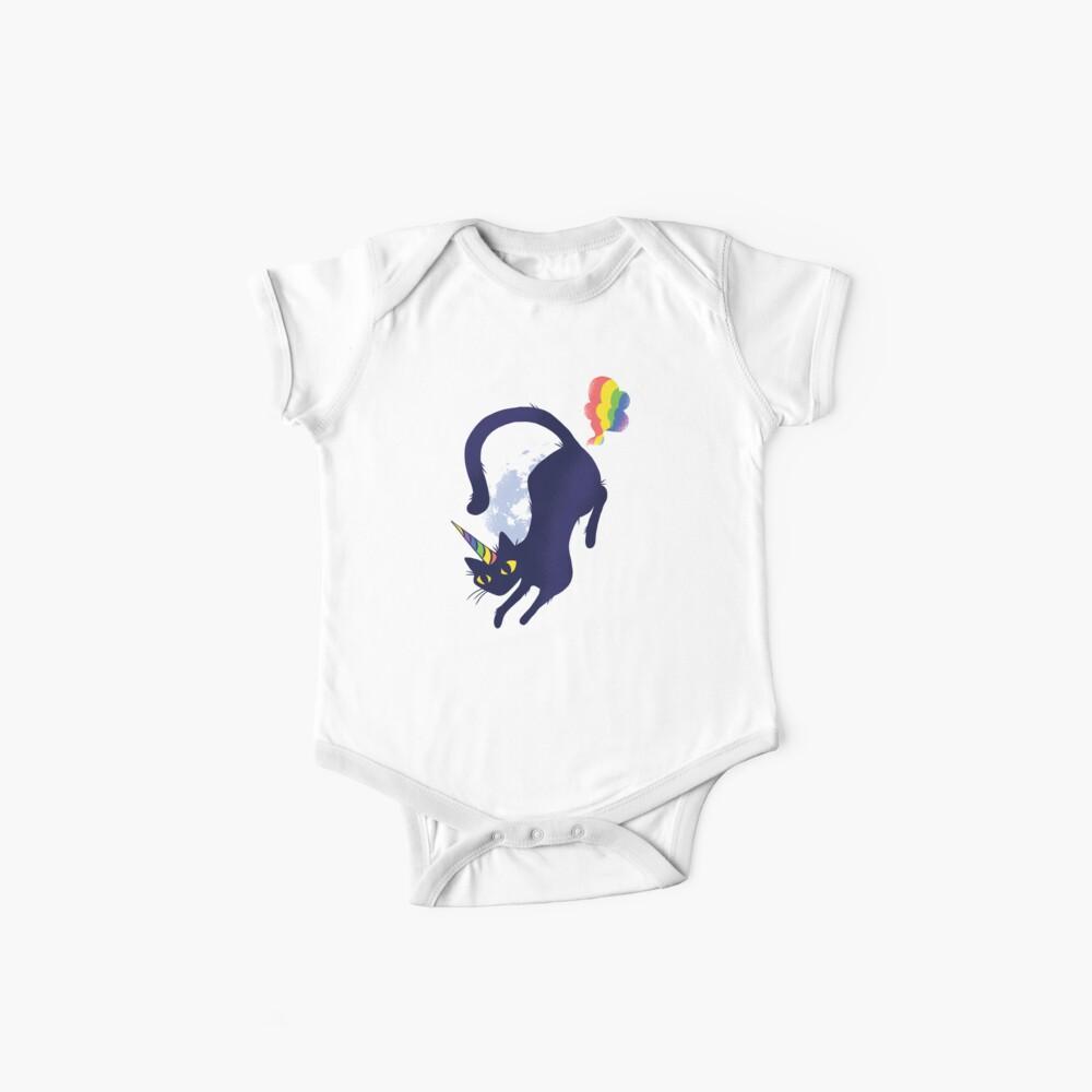 Caticorn Rainbow Fart Baby Bodys