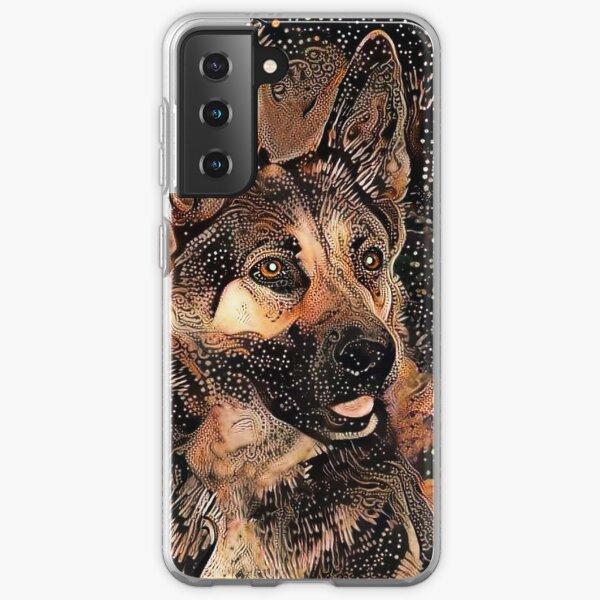 Abstract German Shepherd Dog Samsung Galaxy Soft Case