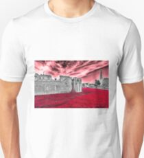 Poppies At The Tower - the very sky weeps Unisex T-Shirt