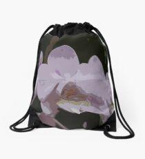 Lavender Orchid Artwork Drawstring Bag