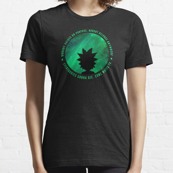 Ricky and Morty - We're all gonna die Essential T-Shirt