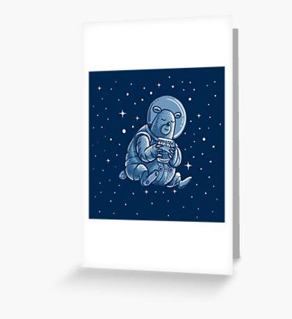 Space Bear Greeting Card
