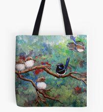 Wrens in the Garden Tote Bag
