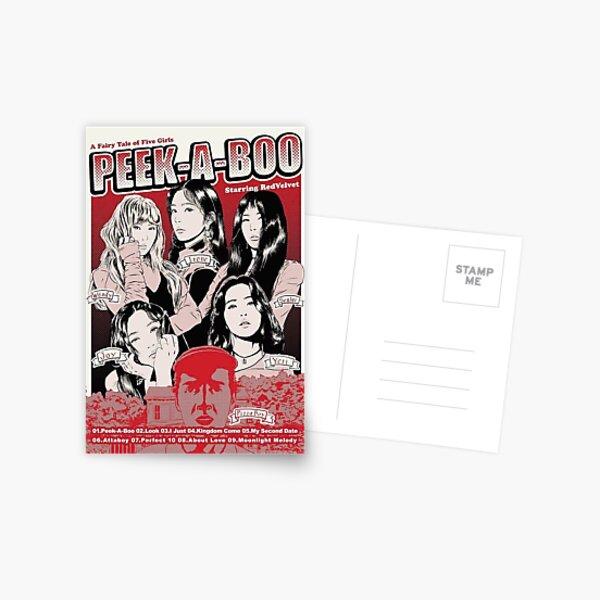 Red velvet peek a boo poster-anime  Postcard