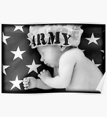 Army Baby Poster