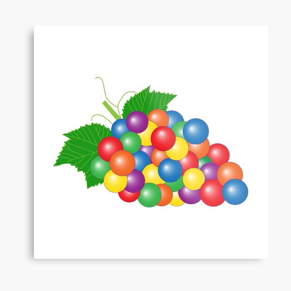 Gay-pes > Gay Grapes | Queer Fruit Collection Metal Print